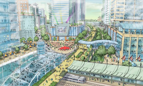 rendering from Drexel University master plan (courtesy of Goody Clancy Planning)