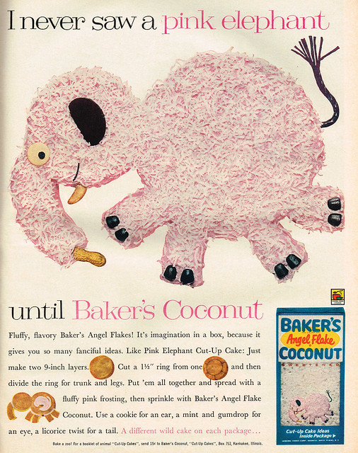 Vintage Ad #2,203: Seeing Pink Elephants with Baker's Coconut