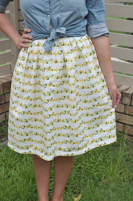 Lemon Print Skirt
