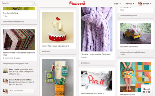screenshot from one of my Pinterest boards
