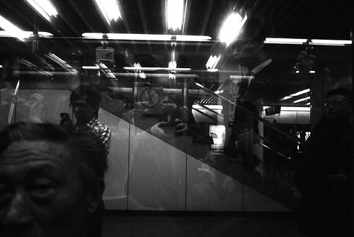Shanghai metro selfie
