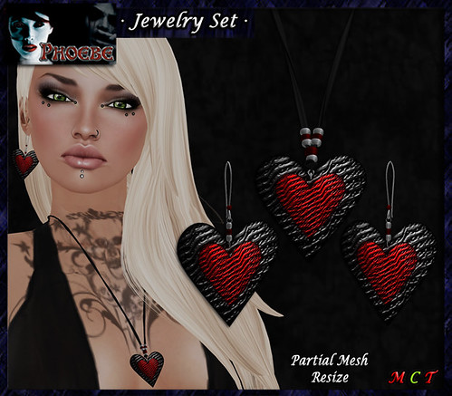 P Passion Jewelry Set ~Black-Red~ (PMESH)