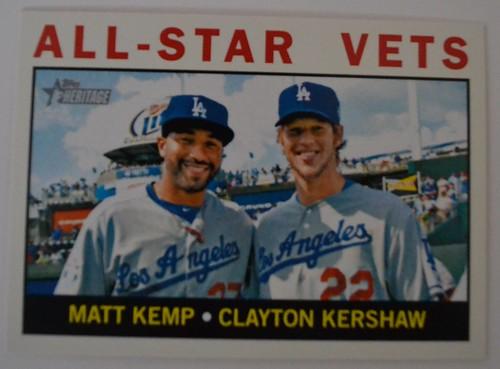 Matt Kemp/Clayton Kershaw Topps Heritage 2013