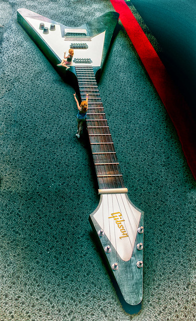 Photo:Gibson Flying V (land of the giants version) By •tlc•