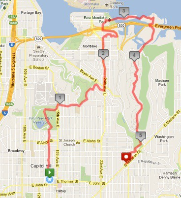 Today's awesome walk, 5.36 miles in 1:34 by christopher575