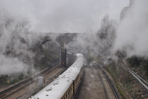 Steam train aftermath