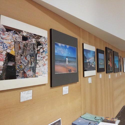 ダウン症の写真家、川田たいしさんの作品展示。