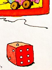 indoor games and sports, sports, tabletop game, games, dice, cartoon, illustration, board game,