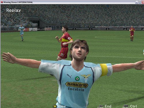 Winning Eleven 8-1 (6) Claudio Lopez Goal Celebration