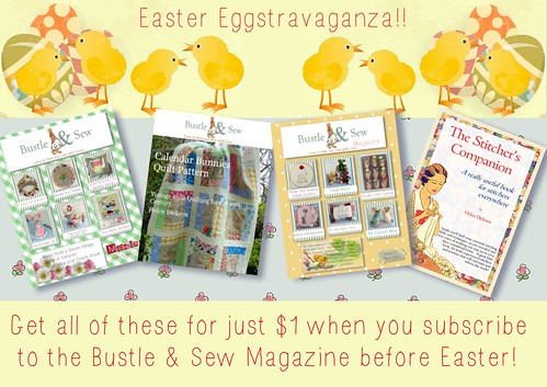 Easter Offer at Bustle & Sew