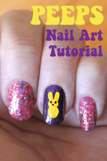 Easy nail art clean up : Tiffany harvey easter peeps manicure with tutorial