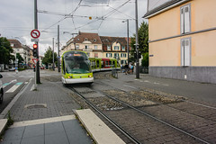 Turning tram in Strasbourg
