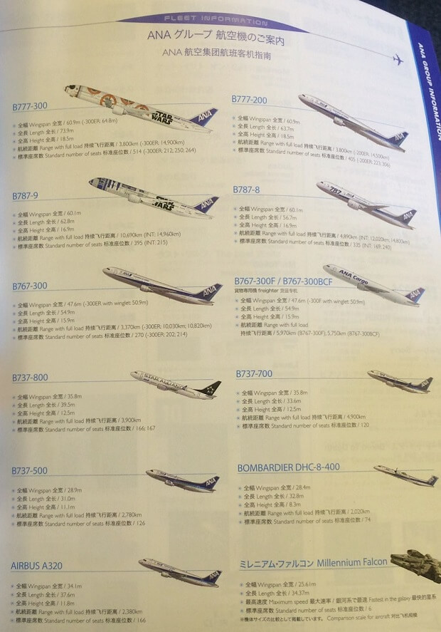 160817 ANA航空機一覧