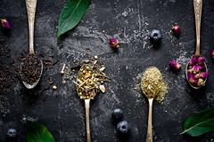 Dry herbal tea, still life