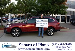 Happy Anniversary to Michael on your #Subaru #Outback from Aaron Dunson at Subaru of Plano!