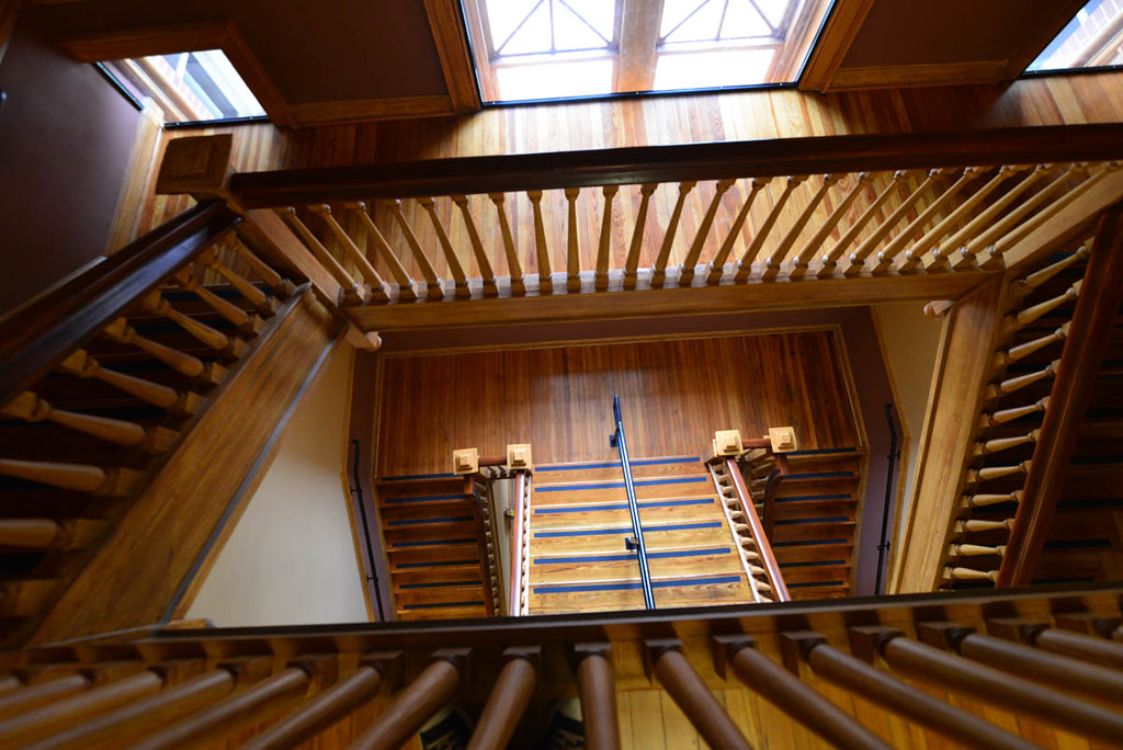 View down the stairwell, old Coweta County Courthouse.