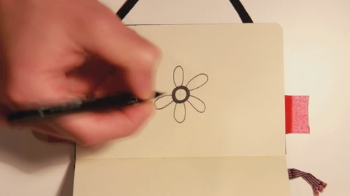 Moleskine illustration #70 - stop-motion animation