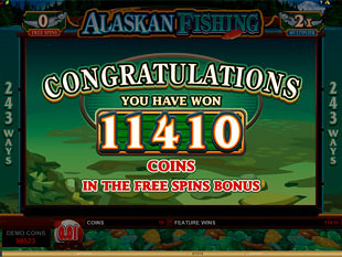 Alaskan Fishing Free Spins Prize