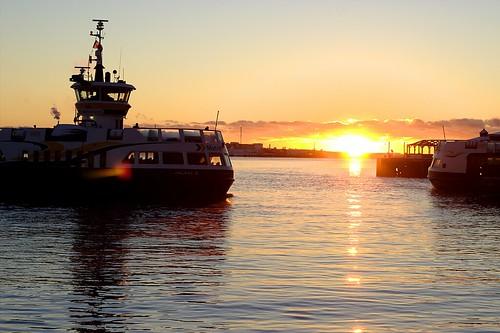 sky sun canada water ferry clouds sunrise harbor novascotia harbour halifax nspp 08365