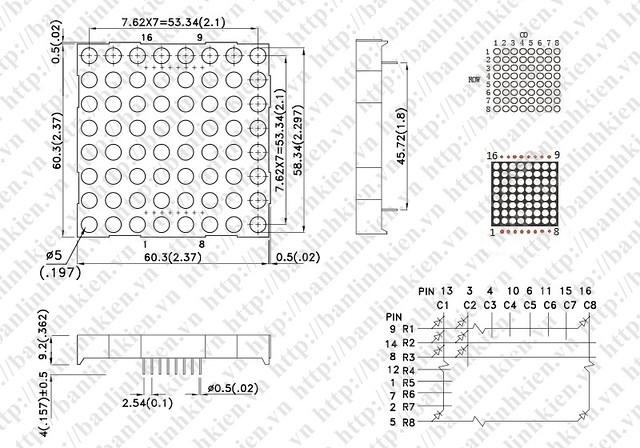 Chuan.Led Matrix 8x8 5mm_GF