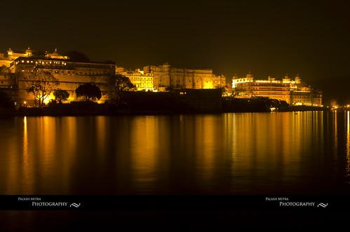 longexposure india lake reflection night landscape palace rajasthan udaipur lakepichola udaipurcitypalace