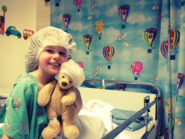 Maud in het hospitaal