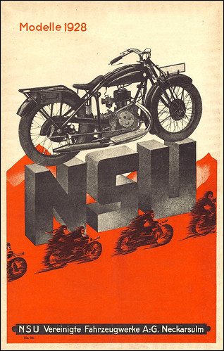 1928 NSU Motorcycles by bullittmcqueen