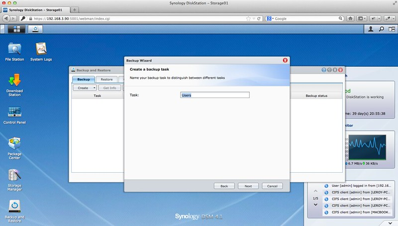 Network Backup - Step 2