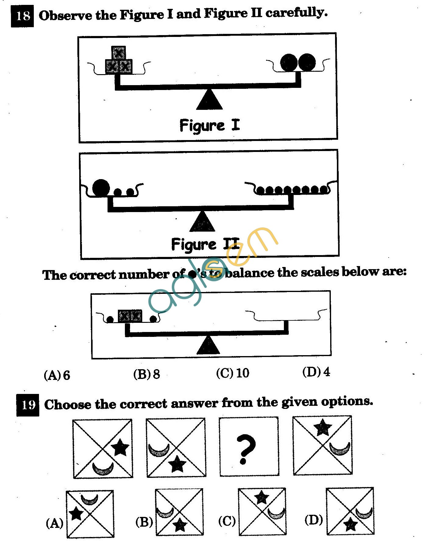 NSTSE 2011 Class III Question Paper with Answers - Mathematics