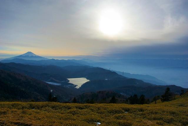 介山荘近くから富士を望む