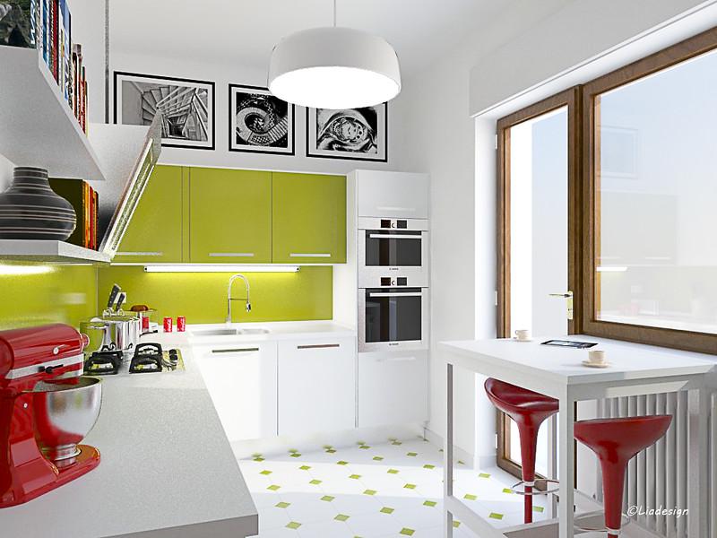 Cucina Verde. D Moderno Tende Per Camera Da Letto Soggiorno ...