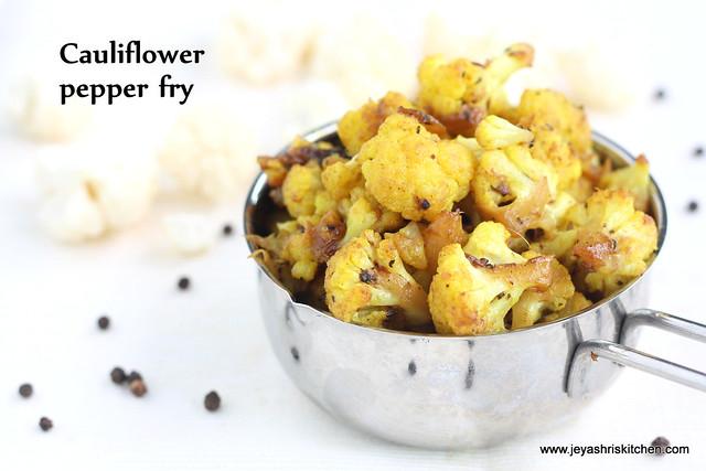 Cauliflower pepper fry 1
