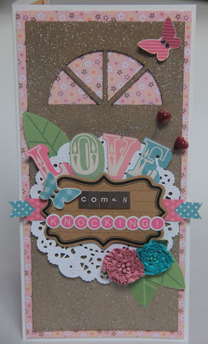 """Love Comes Knocking"" card a"