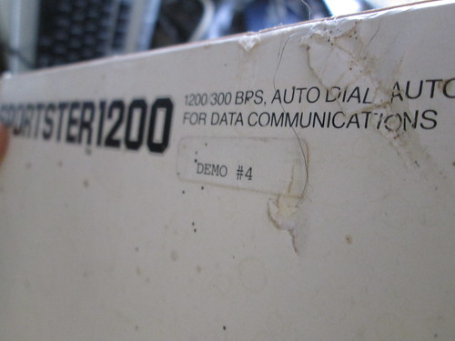 The US Robotics Sportster 1200 baud modem...demo #4