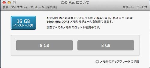 mac miniメモリ
