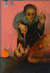 <strong>NIYAZ NAJAFOV | DANCING ON BONES - </strong> Enemas (Clinical Death)<br />Oil on canvas, 161 x 81 cm, 2012