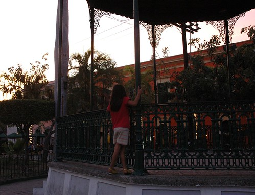 Shadow of the gazebo, a girl dreams, South Mazatlan, Mexico by Wonderlane