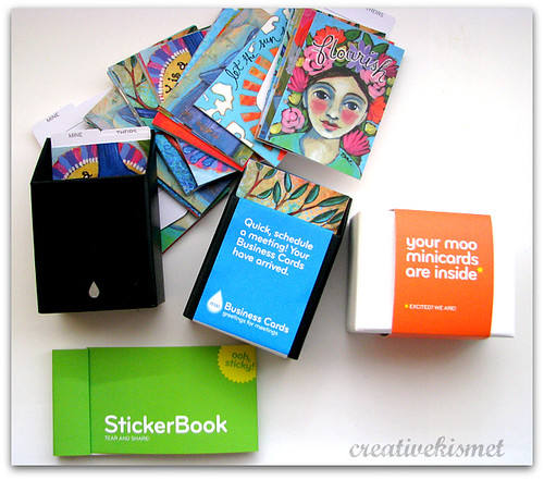 Moo Business Cards, mini cards and stickers
