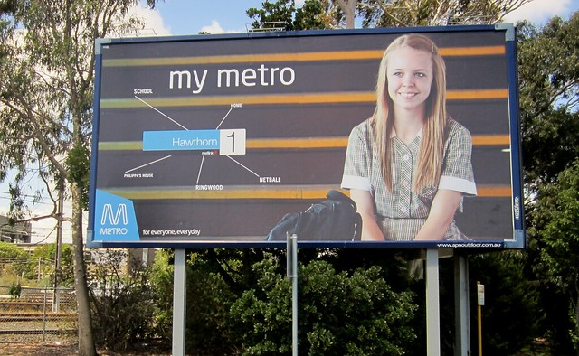 My Metro - billboard near Caulfield station, January 2013