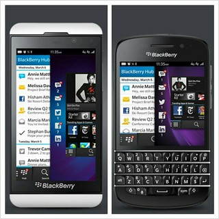 BlackBerry Z10 and Q10 Budianto Haryanto, on Flickr