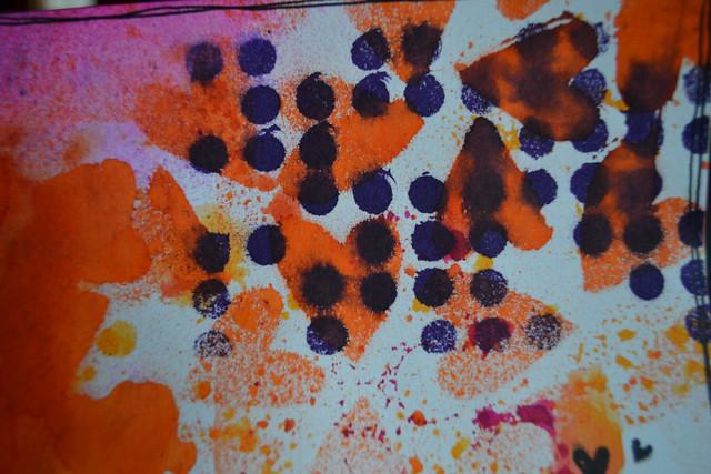 Art Journal Calendar_February closeup 2