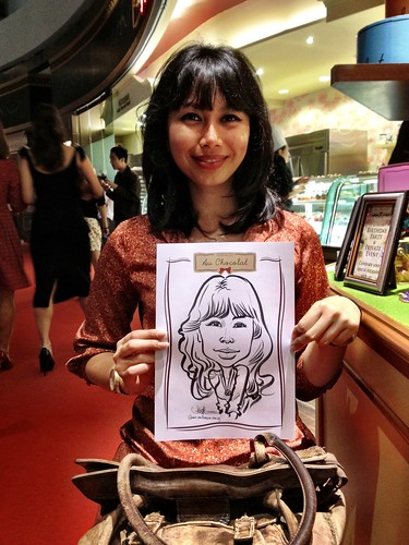 caricature live sketching for Au Chocolat Opening - 11