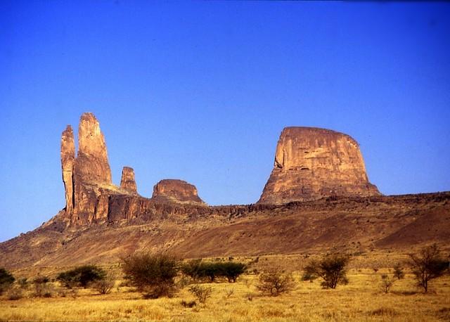 Mali, monts Hombori, dans le désert du Gourma, la main de Fatima