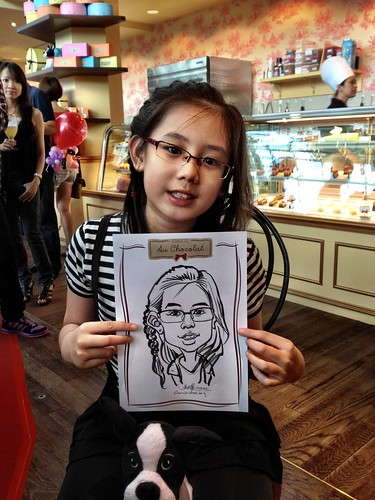 caricature live sketching for Au Chocolat Opening - Day 2 - 14