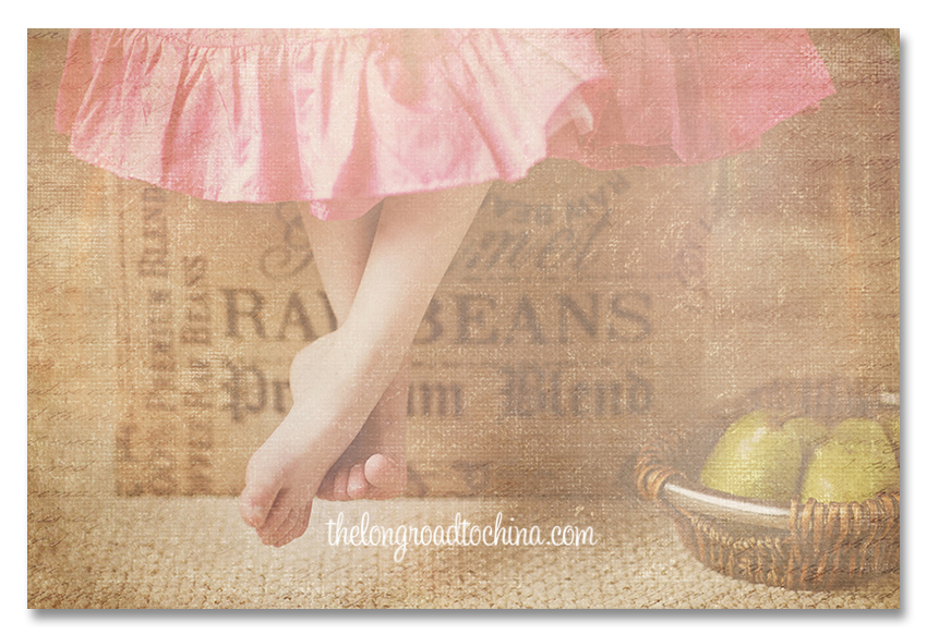 Burlap Pears and Pretty Feet BLOG
