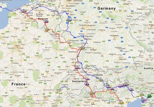 ヨーロッパドライブ旅行 ルート