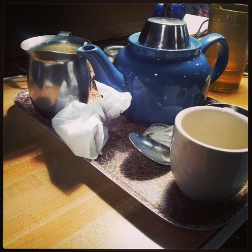 Tea service is really helping me finish this trust document.