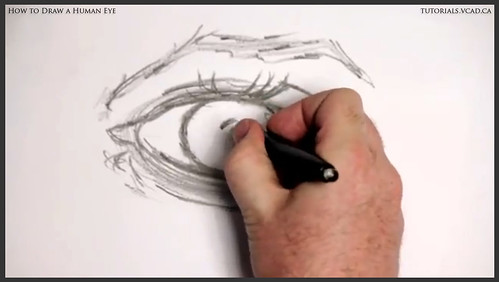learn how to draw a human eye 009