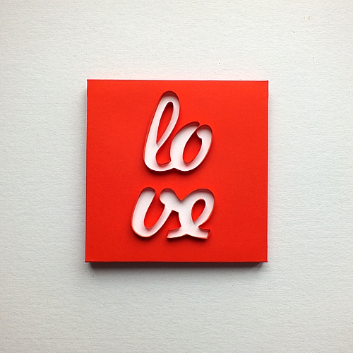Love Quillography by Manuela Koosch