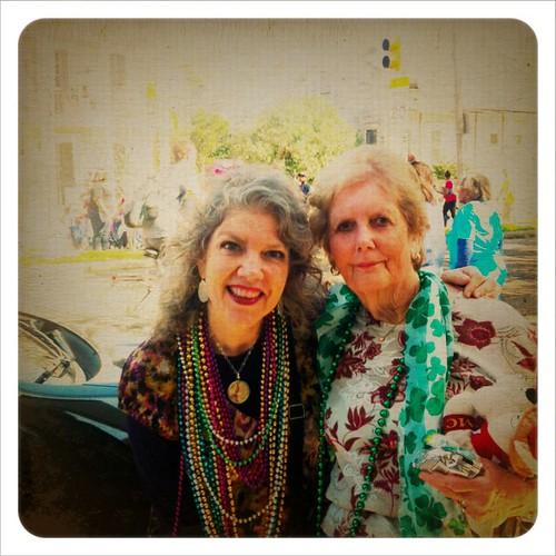 Rockin' the fun stuff! 2-7-13 #meandmama #ilovemama #mardigras #parade #ilovethiswoman #smiles #beads #holidaytraditions #neworleans #travel